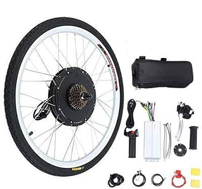 "Yonntech 48V 1000W Electric Bicycle Cycle E Bike 26"" Rear Wheel Ebike Hub Motor Conversion Kit Hub Motor Wheel"