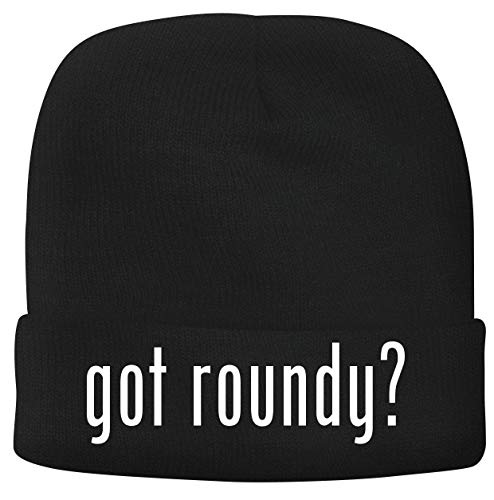 BH Cool Designs got Roundy? - Men's Soft & Comfortable Beanie Hat Cap, Black, One Size