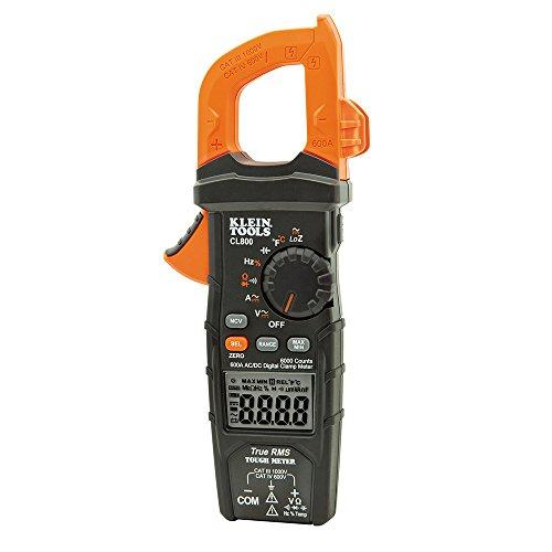 KLEIN TOOLS CL800 Morsetto Digitale con Funzione Automatica, 0 V, Nero Arancione, Temperature, Capacitance, Frequency DC Current, Low Impedance