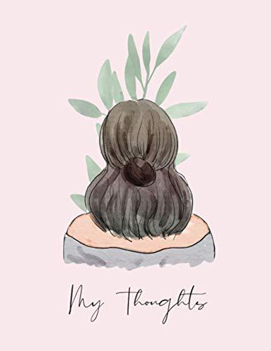 My Thoughts Journal | Pink Boho Girl | Journals for Women: 8.5 x 11 Journal | Boho Journal