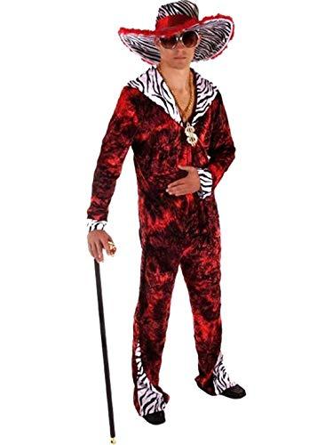Hommes d'âge drôles pour, 70 Big Daddy, Red Fancy Dress Costume Pimp. Un Cos Taille ..