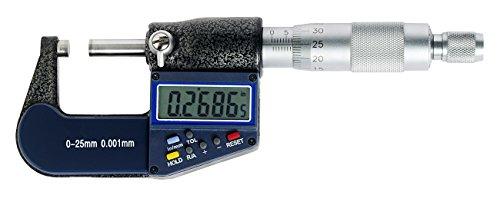WABECO Digitale Mikrometerschraube 0-25 mm Mikrometer Bügelmessschraube