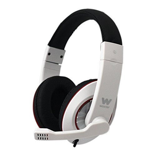 WOXTER i-Headphone PC 780, Auriculares Diadema con micrófono y reducción de Ruido, Color Blanco y Negro
