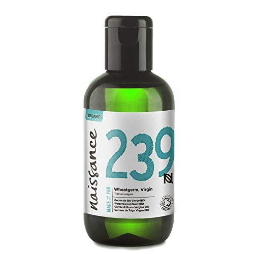 Naissance Huile Végétale de Germe de Blé BIO (n° 239) - 100ml - 100% pure, pressée à froid et certifiée Biologique