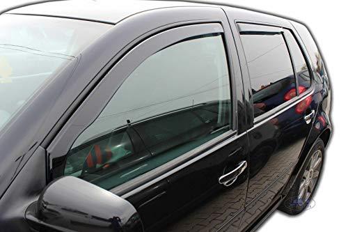 J&J AUTOMOTIVE Windabweiser Regenabweiser für Golf 4 IV Kombi 5-türer 1999-2006 4tlg HEKO dunkel