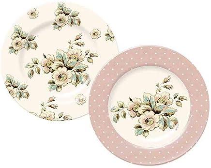 Conj. 2 Pratos Em Porcelana 19Cm Creative Tops
