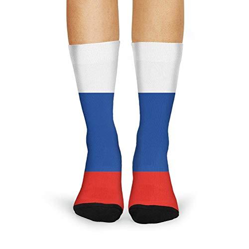 Women's Dress Crew Socks Russian Flag Tube Socks