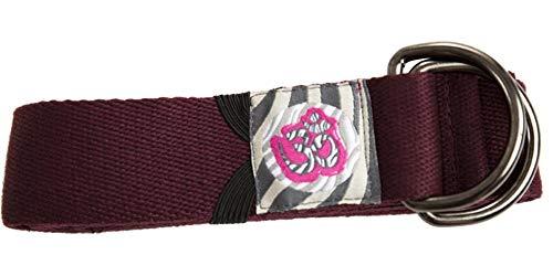 Cinturón Yoga Profesional/Doble Hebilla/Material: 90% Algodón 10% Nylon/Medidas: Largo: 244cm Ancho: 3,8cm (Burdeos)