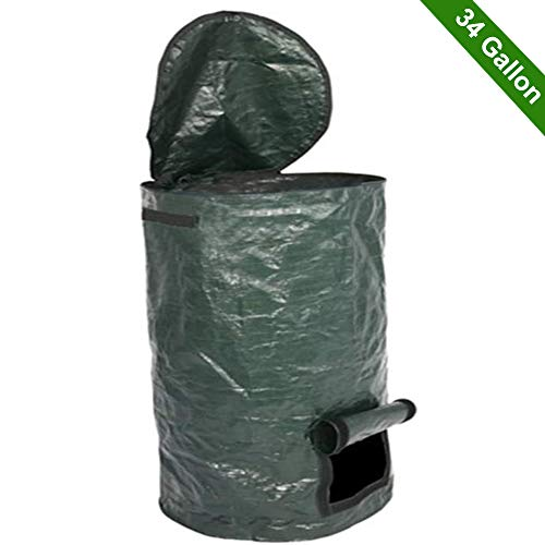 Fantastic Deal! Garden Compost Bag, Garden Folding Compost Bin, Yard Leaf Waste Compost Bag Fruit Ki...