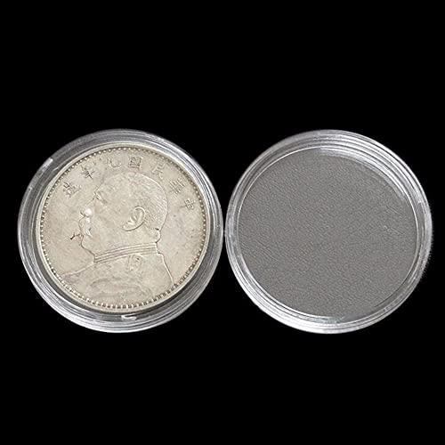 MUY Porta Monedas Transparente Cápsulas Estuches Anillo de Almacenamiento Redondo Cajas de plástico Cápsulas de Monedas Caja de Recuerdo para Mujeres