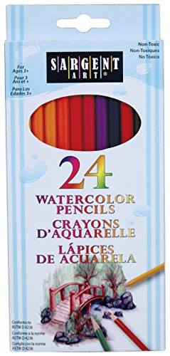 Sargent Art 22-7205 24-Count Assorted Color Watercolor Pencil Set