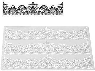 Silikomart Wonder Cakes by 23.088.87.0196 Tapis en Silicone pour Dentelles en Sucre avec Motif Chic, Blanc, 3,5 x 11,5 x 2...