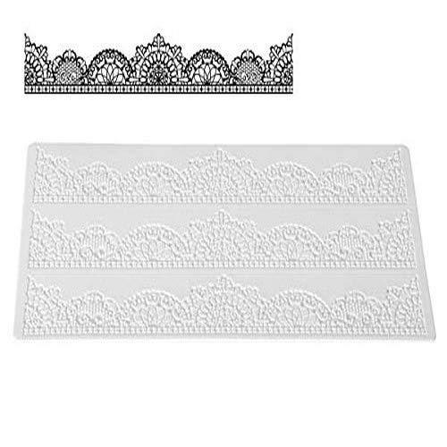 TRD08 Tapete de Silicona Chic para Hacer Encajes de azúcar, Color Blanco