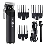 Ufree Hair Clippers, Clippers For Hair Cutting, Professional Cordless Clippers kit, USB rechargeable Hair Trimmer For Men, Black