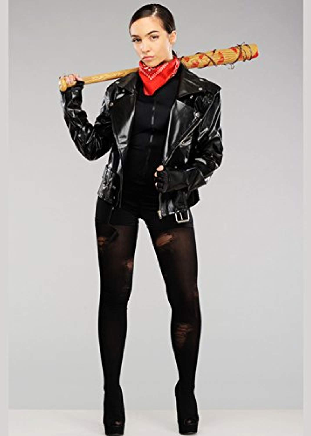 Adult donna The Walre Dead Style Negan Costume with Jacket (Medium (UK 10-12))