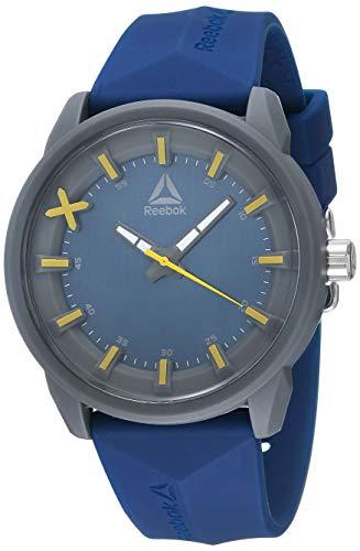 REEBOK DOD Orologio da uomo blu da 46 mm, quadrante blu, cassa in ABS, cinturino in silicone blu, quadrante blu/giallo (RD-DOD-G2-PBPL-LY)