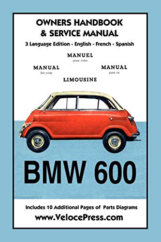 BMW 600 Limousine 1957- 59 Owners Manual & Service