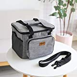 Viner Portable Cooler Bag Thermal Lunch Picnic Box Meal Isulated Delivery Bag Drinks Cans Cool Ice Pack Vehicle Isolation Bag, Grey