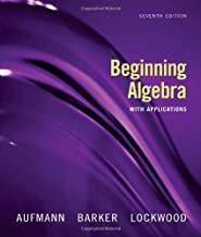 beginning algebra with applications 7th edition