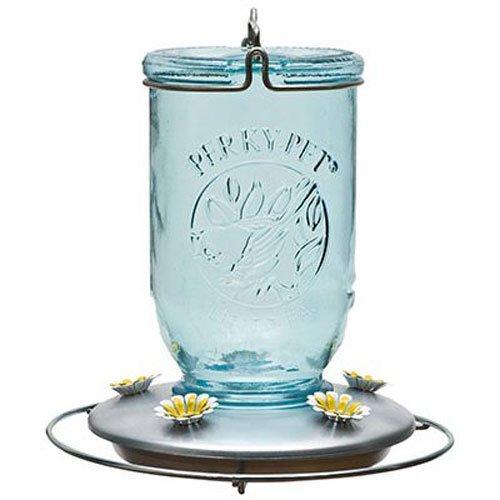 Perky-Pet 785 Mason Jar Hummingbird Feeder,Blue Mason Jar