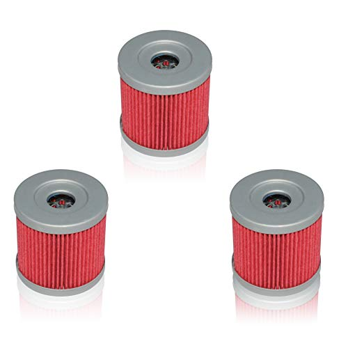 New Pack of 3 Oil Filter fit for Suzuki Z400 LTZ400 LT-Z400 Z LTZ 400 LTR450 LT-R450 LTR 450 DRZ400 Kawasaki KFX400 KFX 400 Artic Cat DVX400 DVX 400 Replace HF139 & KN139