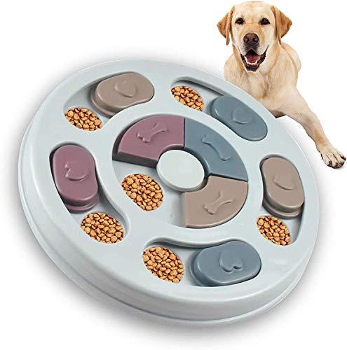 HiCollie ノーズワークパズル 犬おもちゃ おやつ入れ フード隠しおもちゃ 餌入れおもちゃ ノーズワーク 鼻づまり ペットおもちゃ 犬 猫 知育玩具 嗅覚訓練 犬噛む 集中力向上 性格改善 運動不足 分離不安 ストレス解消 ペット用品 (ブルー)