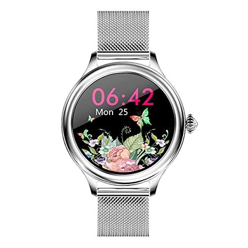 YDZ Nuove Smart Watch Smart Watch Bluetooth Smart Watch H58, Schermo Circolare Completo A Ciclo Completo, HM4 Smart Guarda, Cinturino da Donna per Android iOS,B