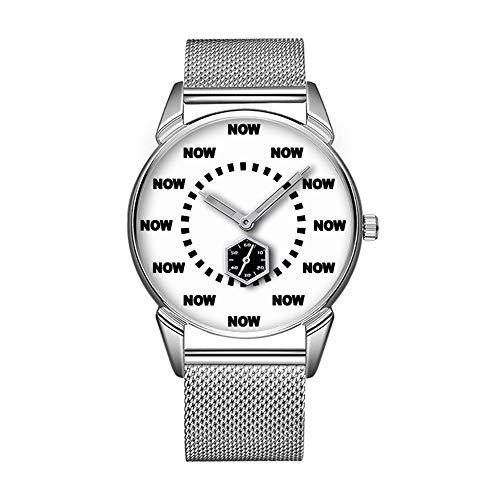 Mode wasserdicht Uhr minimalistischen Persönlichkeit Muster Uhr -194. cool Now Watch (weiß)
