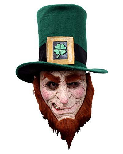 Horror-Shop Irischer Kobold Maske mit Bart für Fasching & Halloween