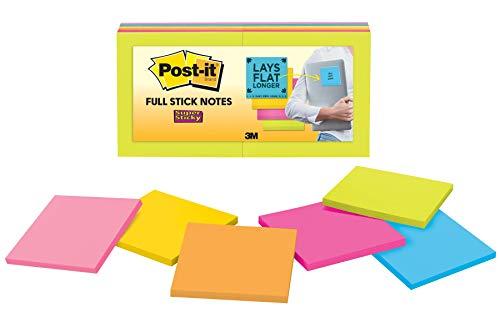 Post-it Super Sticky 76x 76mm notas adhesivas Pad, color Rio de Janerio Collection 12 Pads
