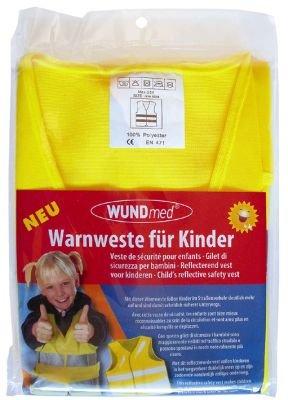 240381 Warnweste für Kinder, Kindergröße, Kinderwarnweste, gelb