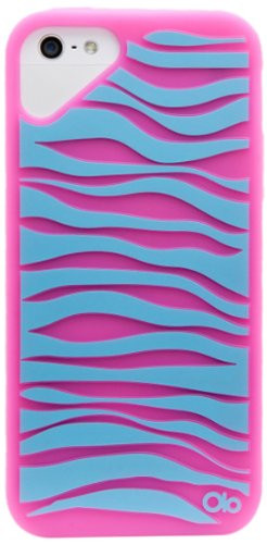 OLO Fashion Zebra, Custodia per Apple iPhone 5 Pink