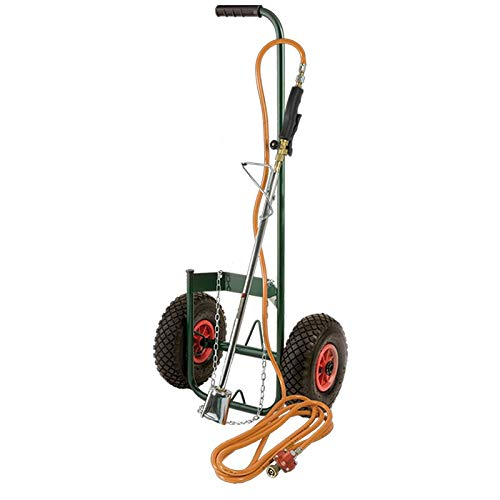 Kit désherbeur thermique + tuyau + détendeur + chariot roues gon