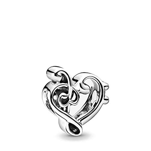 ZSCZQ Forma de corazón 925 Flor de Plata esterlina Mamá Mamá de mi corazón Encantos DIY Cuentas Finas Fit Original Charm Bracelet Jewelry B043