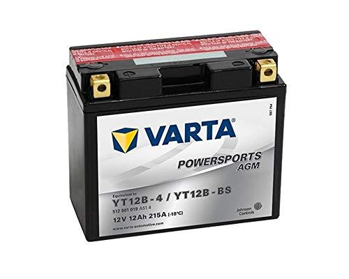 Batterie VARTA Powersports AGM YT12B-BS / YT12B-4 für DUCATI Diavel/Cromo/Carbon/AMG ABS (119 kW) 1200ccm 11 [ inkl.7.50 EUR Batteriepfand ]