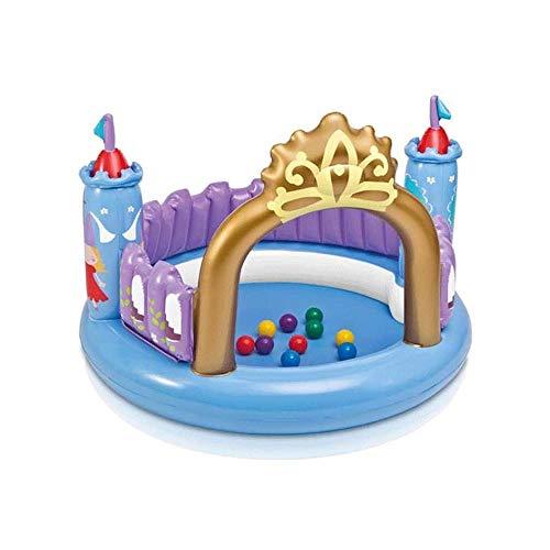 Z-Color Castillo de Castillo Hinchable Juguetes inflables for niños Princesa con el océano de la Bola for el Entretenimiento Interior y Exterior, el 130 * 91cm (Bomba Cargado)