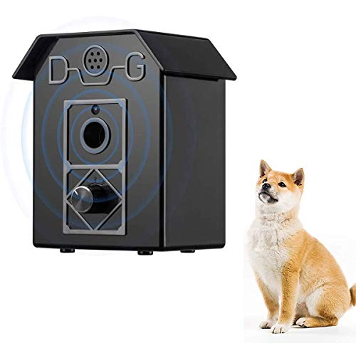 New Pet Ultrasonic Anti Barking Device, Dog Bark Control Device Waterproof Outdoor Sonic Bark Deterrents Up to 50 Ft Range Safe for Dogs