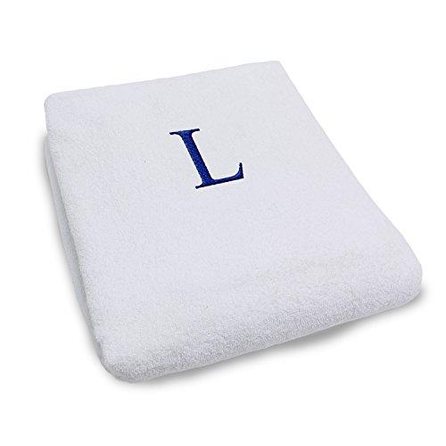 Funda para silla de salón de algodón 100% con letras monogramas, personalizable