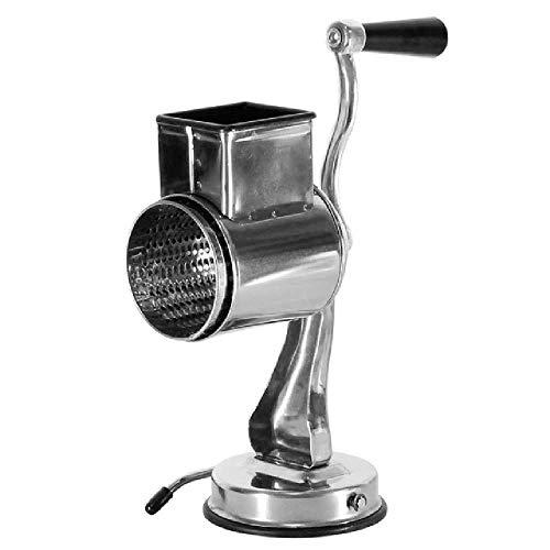 Rallador de queso giratorio Casiz, rallador de queso, rallador de verduras, rallador giratorio para hierro inoxidable grueso, medio, fino, microrallado/rallado/rebanado