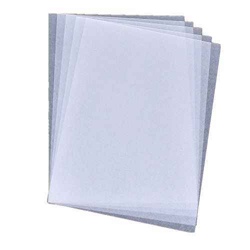 YNuth Schrumpffolie für Tintenstrahldrucker, A4-Format, Kunststoffschrumpffolie, 21 x 29,7 cm, halbtransparent, 5er-Pack, Halb-Transparent, A4
