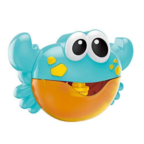 Harilla Bubble Maker Automatizado Musical Bath Kids Fun Toys Regalo - Azul, 9.45x2.76x6.10 Pulgadas