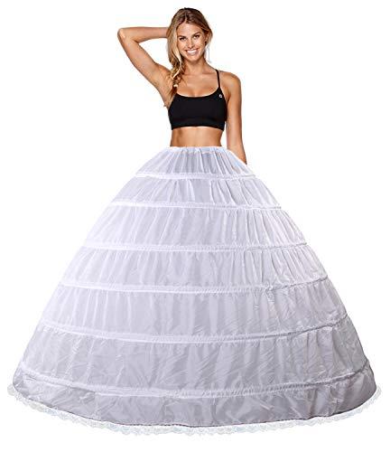 Babydress Enagua Aros Enaguas Enteras Crinolina 6 Aros para Mujer Faldas Vestidos...