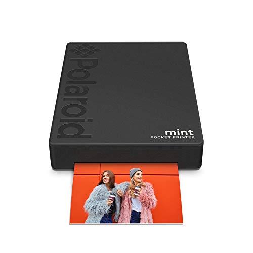 Polaroid Mint: Taschendrucker mit Zink-Papier. Bluetooth für Android- und iOS-Geräte. Druckt in selbstklebendem Zink-Papier 2x3