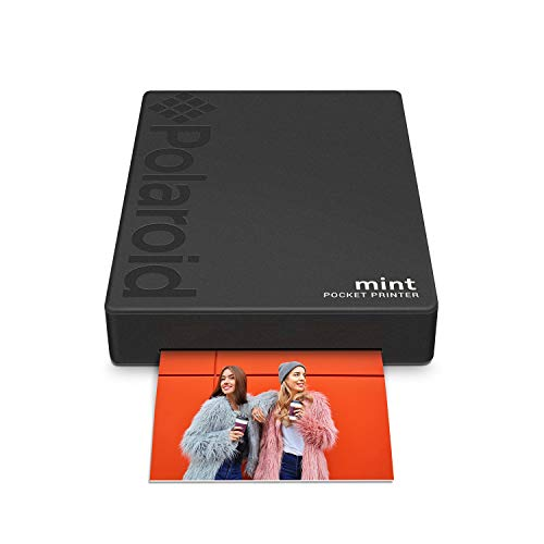 Zink Polaroid Mint Pocket Printer W/ Zink Zero Ink Technology & Built-In Bluetooth for Android & iOS Devices - Black