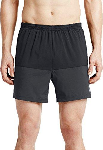 Nike - 5distance - Short - Homme - Noir (Noir/anthracite/argenté/éléments réfléchissants) - Taille: XL