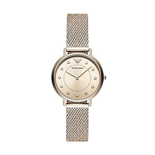 Emporio Armani dames analoog kwarts smartwatch polshorloge met roestvrij stalen armband AR11129