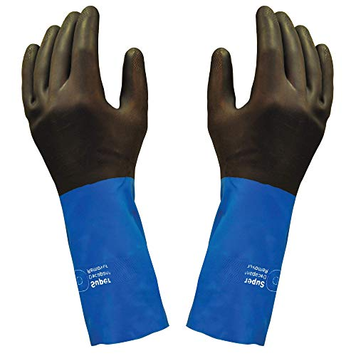 Neoprene, Chemical Resistant Gloves, Industrial Strength, Stripping and Painting...