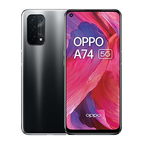 A74 Smartphone 5G – 6 GB RAM und 128 GB + erweiterbarer Speicher, SIM-freies Smartphone (16,5 cm Bildschirm, 5000 mAh Akku, 48 MP Quad-Kamera, 90 Hz Bildwiederholrate) – Fluid Black