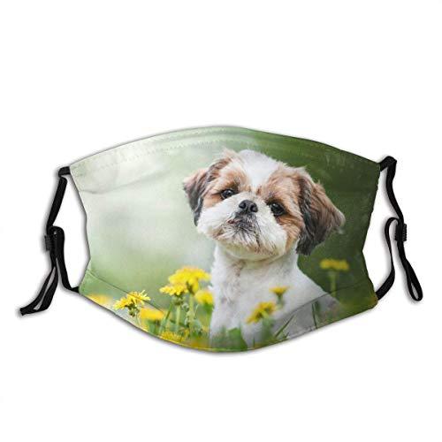 Cara animal linda del perro M-A-S-K lavable Bandana para adultos hombres mujeres