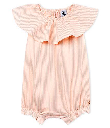 Petit Bateau Banquet Grenouillère, Rose (Marshmallow/Rosako 01), Nouveau-né (Taille Fabricant: 6M 6 Mois) Bébé Fille